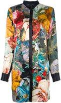 Philipp Plein floral print shirt dress - women - Silk - XL