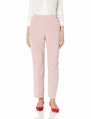 Alfred Dunner Women's Full Back Elastic Proportioned Medium Pant