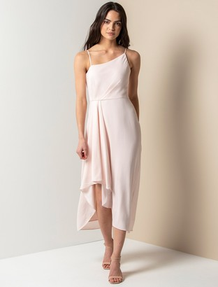 Forever New Danielle Strappy Ruffle Maxi Gown - Pearl - 10