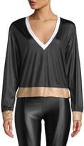 Koral Activewear Birdie Colorblock V-Neck Pullover Top
