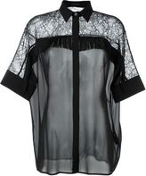 Versace fringed lace blouse