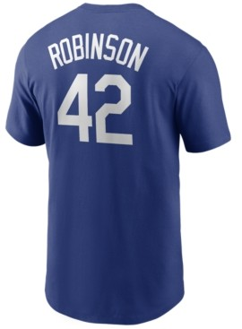 Nike Brooklyn Dodgers Men's Coop Jackie Robinson Name and Number Player T-Shirt