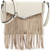 French Connection Lola Crossbody Bag with Suede Fringe, African Stone