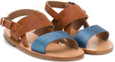 Pépé colour block sandals - kids - Calf Leather/Leather/rubber - 26