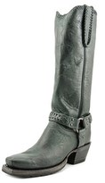 Lucchese Harness Boot M46 Women Pointed Toe Leather Black Western Boot.