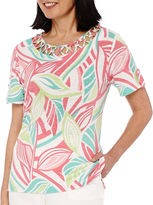 Alfred Dunner Acapulco Short-Sleeve Burnout Top
