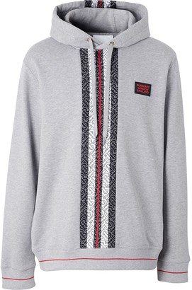 Burberry Monogram-Print Hooded Sweatshirt