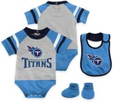 NFL Tennessee Titans Lil Jersey 3-Piece Creeper, Bib, and Bootie Set