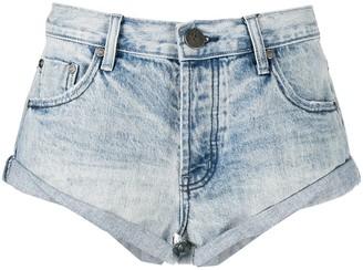 One Teaspoon Faded Denim Shorts