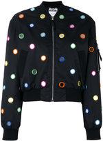 Moschino mirror embroidered bomber jacket - women - Polyamide/Polyester/Rayon - 40
