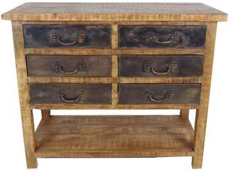Moti Furniture Golden 6 Drawer Chest Furniture