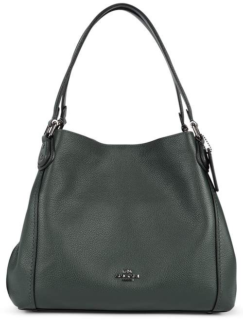 Coach Edie 31 Dark Green Leather Shoulder Bag