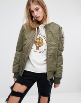 Schott Aireforce 1 Bomber Jacket With Woven Badge On Arm