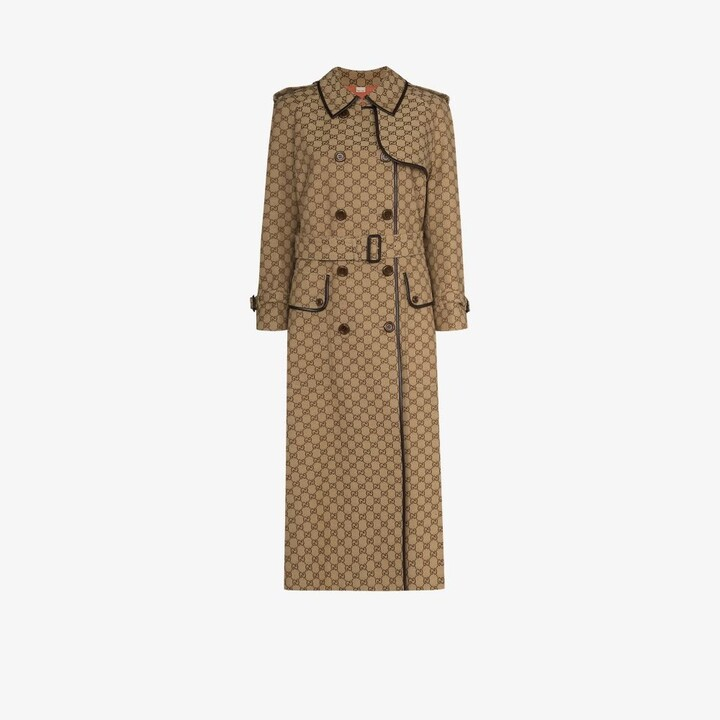 Thumbnail for your product : Gucci Neutrals GG Canvas Trench Coat
