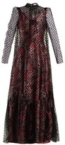 Erdem Eilian Tulle-overlay Floral-jacquard Gown - Womens - Pink Multi