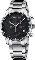 Calvin Klein City stainless steel chronograph watch