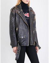 Tommy Hilfiger x Gigi Hadid distressed leather jacket