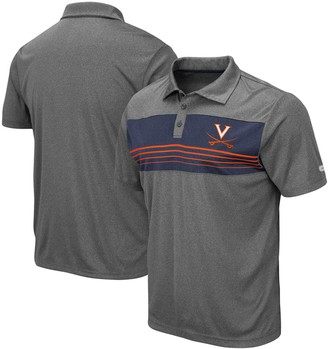 Colosseum Men's Heathered Charcoal Virginia Cavaliers Wordmark Smithers Polo