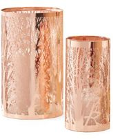 Twos Company Two's Company Etched Copper Candle Holder Set of Two