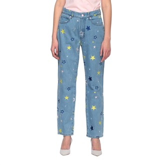 Love Moschino Jeans Boyfriend Jeans With All-over Star Embroidery