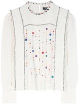 Isabel Marant Fawna Embroidered Silk Blouse