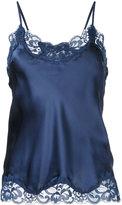 Gold Hawk lace trim cami top - women - Silk/Nylon - L
