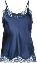 Gold Hawk lace trim cami top - women - Silk/Nylon - M