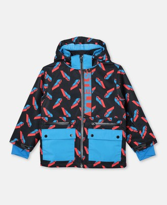 Stella Mccartney Kids Stella McCartney 3d lightning poly ski jacket
