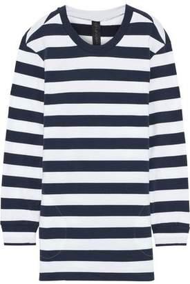 Norma Kamali Boyfriend Striped French Cotton-blend Terry Sweatshirt