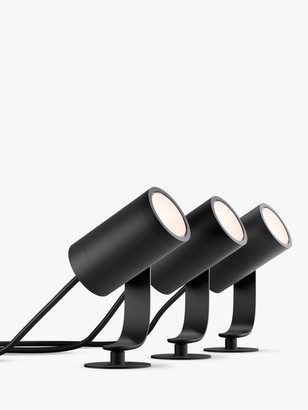 Philips Hue White and Colour Ambiance Lily LED Outdoor Stake Lights, Set of 3