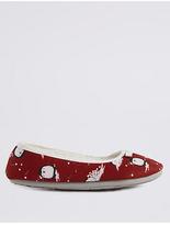 M&S Collection Penguin Ballerina Slippers