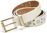 GUESS GUE Women' Laer-Cut Faux-Leather Belt