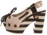 Sonia Rykiel Leather Platform Sandals