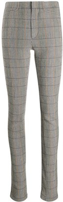 Chloé Checked Zip-Detail Trousers