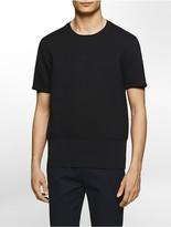 Calvin Klein Platinum Relaxed Fit Short-Sleeve Sweatshirt