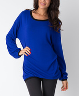 Yuka Paris Olympian Blue Mia Sweater