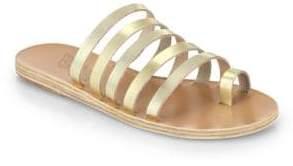 Ancient Greek Sandals Niki Metallic Leather Multi-Strap Sandals