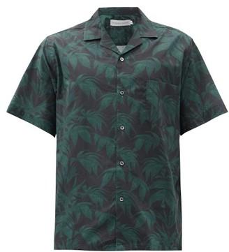 Desmond & Dempsey Byron Foliage Print Cotton Pyjama Top - Mens - Navy Print