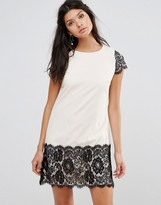 Paper Dolls Shift Dress With Contrast Lace Detail