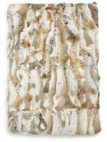 Adrienne Landau Goma Rectangular Rabbit Fur Throw