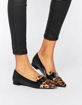 Pieces Psvani Leopard Point Flat Shoes