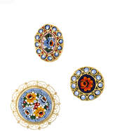 DSQUARED2 set of three floral brooches