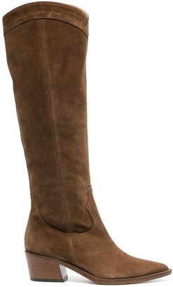 Via Roma 15 Suede Leather Western-Style Boots