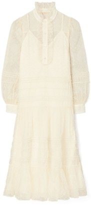 Tory Burch Embroidered Dot Dress
