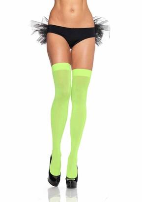 Leg Avenue Women's Opaque Nylon Thigh High Stockings