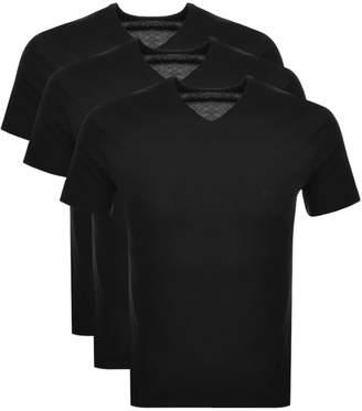 HUGO BOSS Boss Business Triple Pack V Neck T Shirts Black