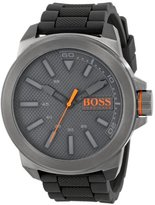 HUGO BOSS BOSS Orange Men's 1513005 New York Stainless Steel and Silicone Watch