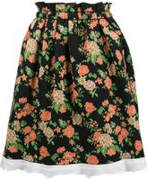 MSGM flared floral skirt - women - Polyamide - M