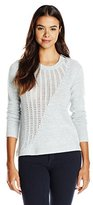 Rebecca Taylor Women's Mixed Gauge Pullover Sweater