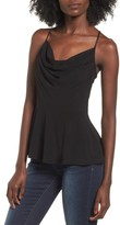 Leith Women's Cowl Neck Peplum Top